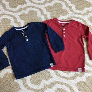 ✴️4/$15 2️⃣ Carters long sleeve shirts 18m
